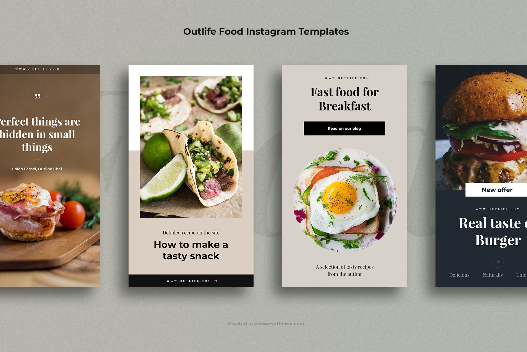 Outlife Food Instagram Templates example image 2