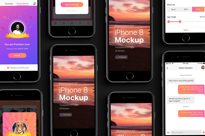 Presentation Kit - iPhone showcase Mockup_v3 example image 3