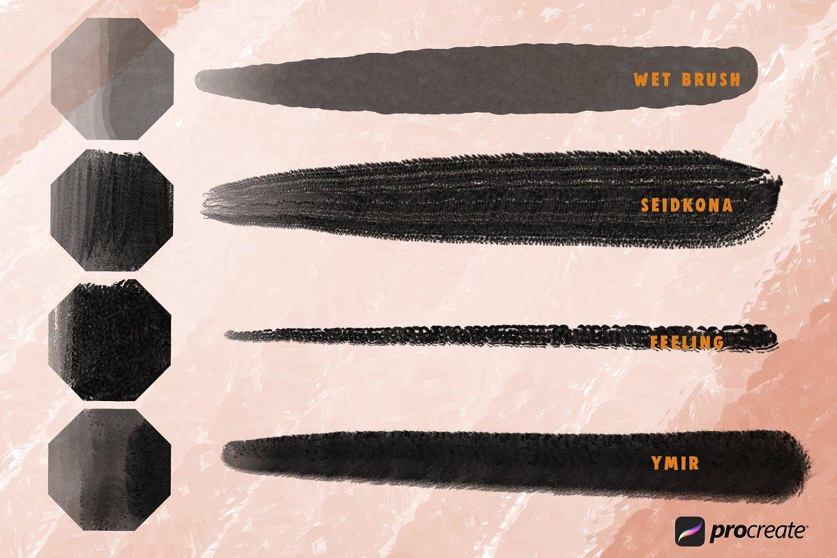 Wild Markers Procreate Brushes example image 4