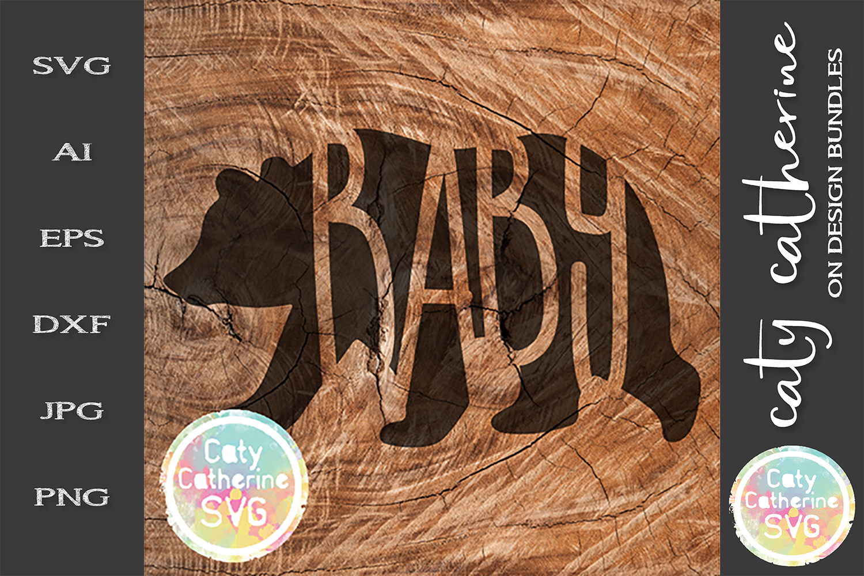 Mama Papa Baby SVG Tee Design Bear Detail Cut File example image 2