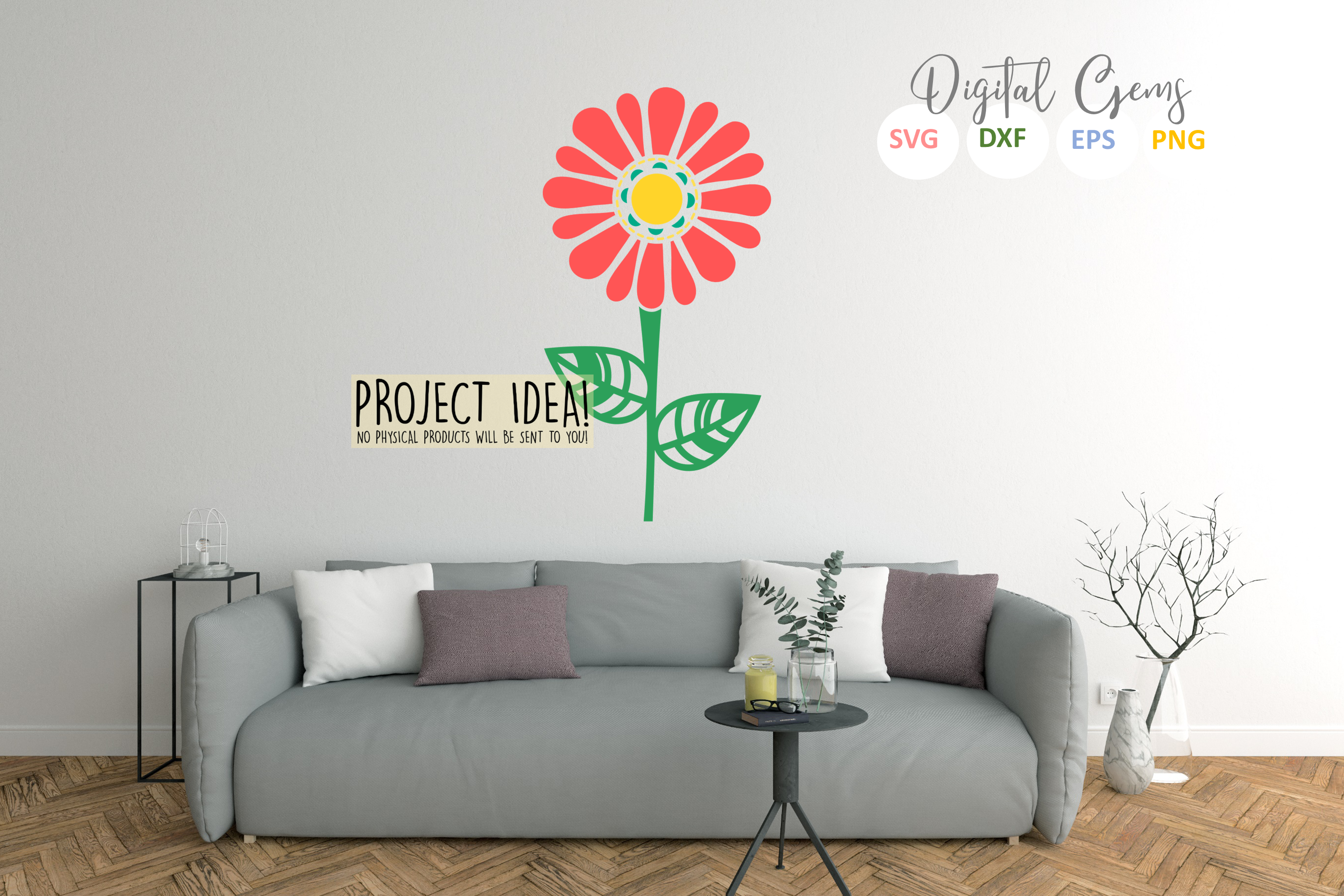 Flower SVG / DXF / EPS / PNG files example image 5