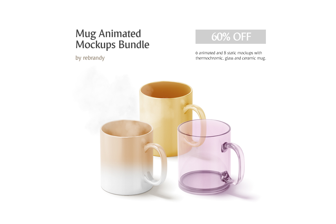 Mug Animated Mockups Bundle example image 1