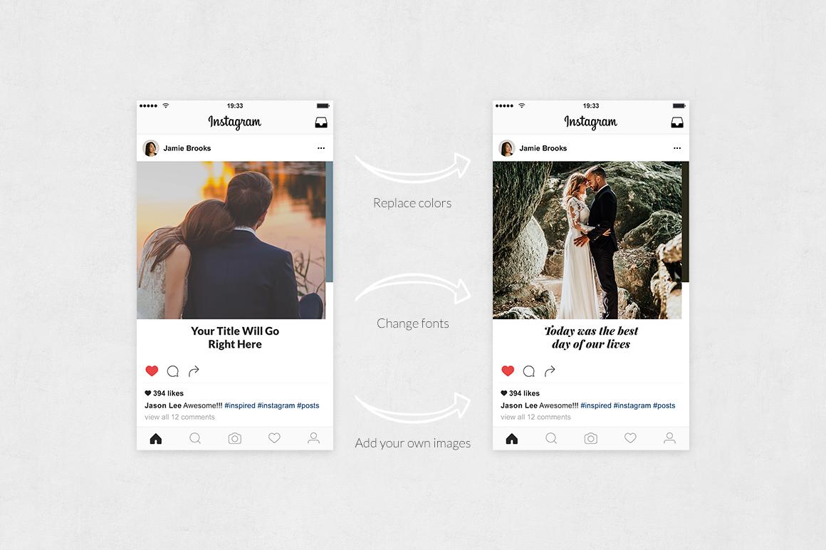 Wedding Instagram Posts example image 5