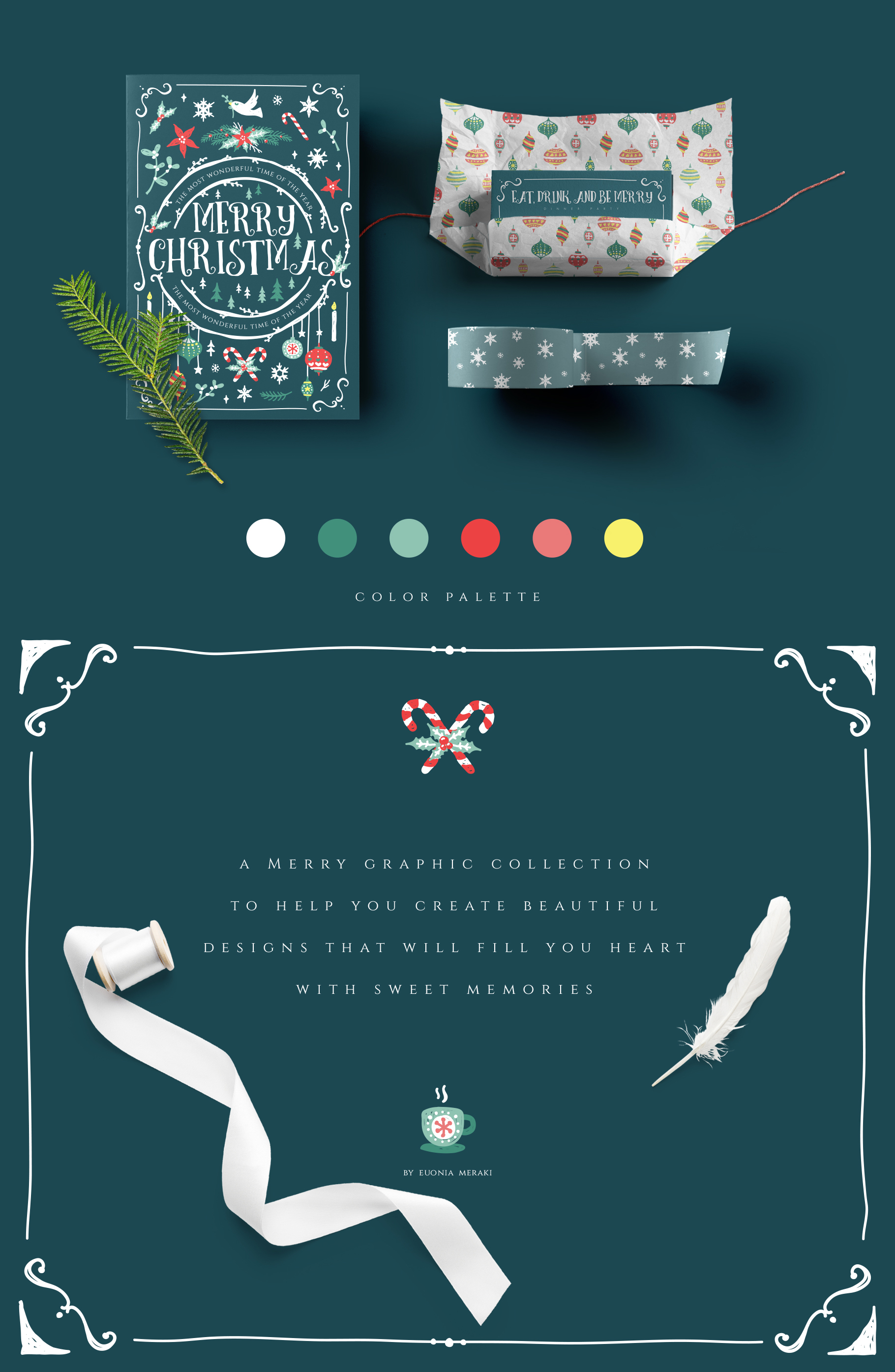 Christmas Joy - Cute and Festive Graphic Pack example image 2