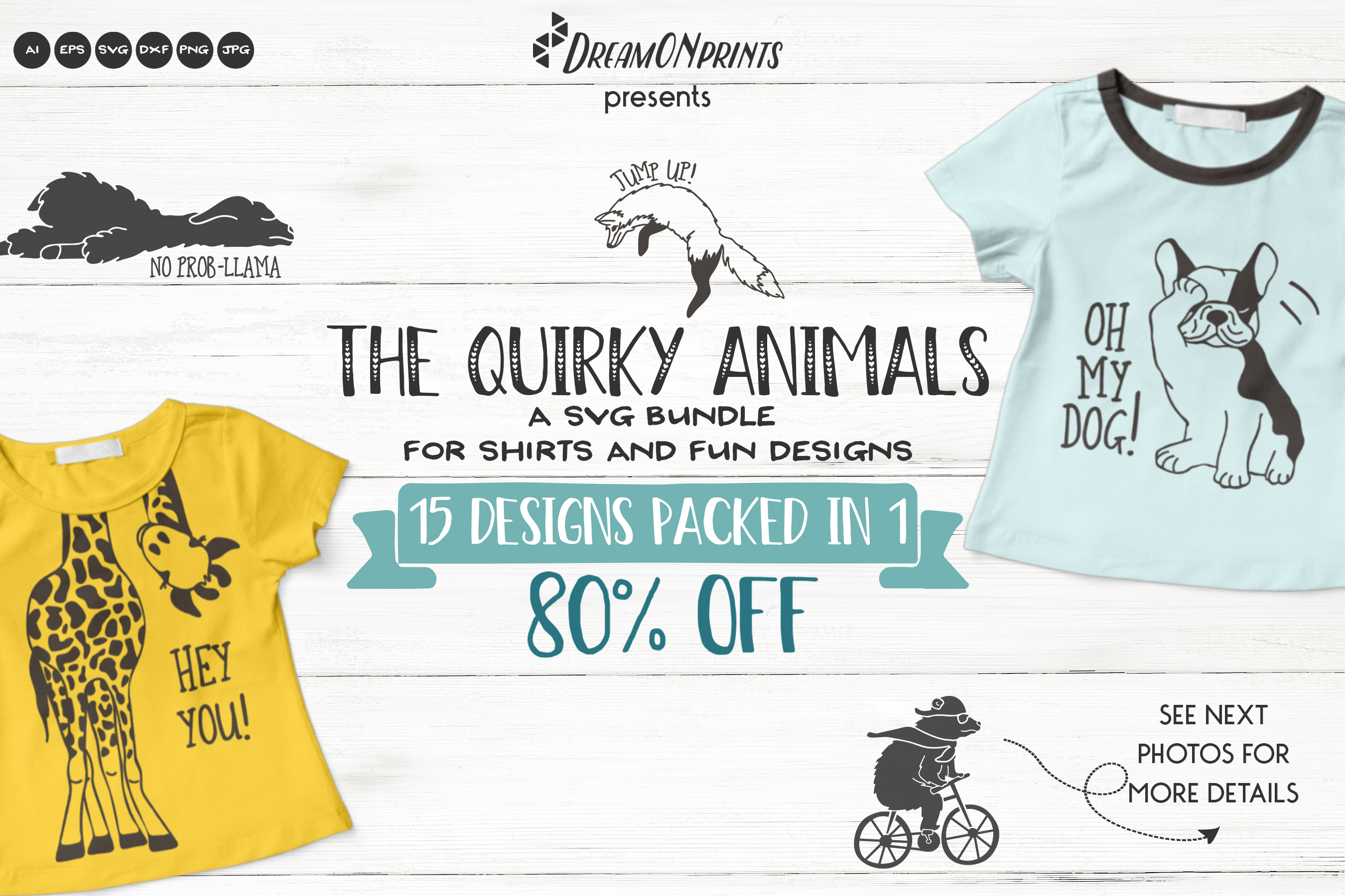 The Quirky Animals | Funny SVG Bundle example image 1