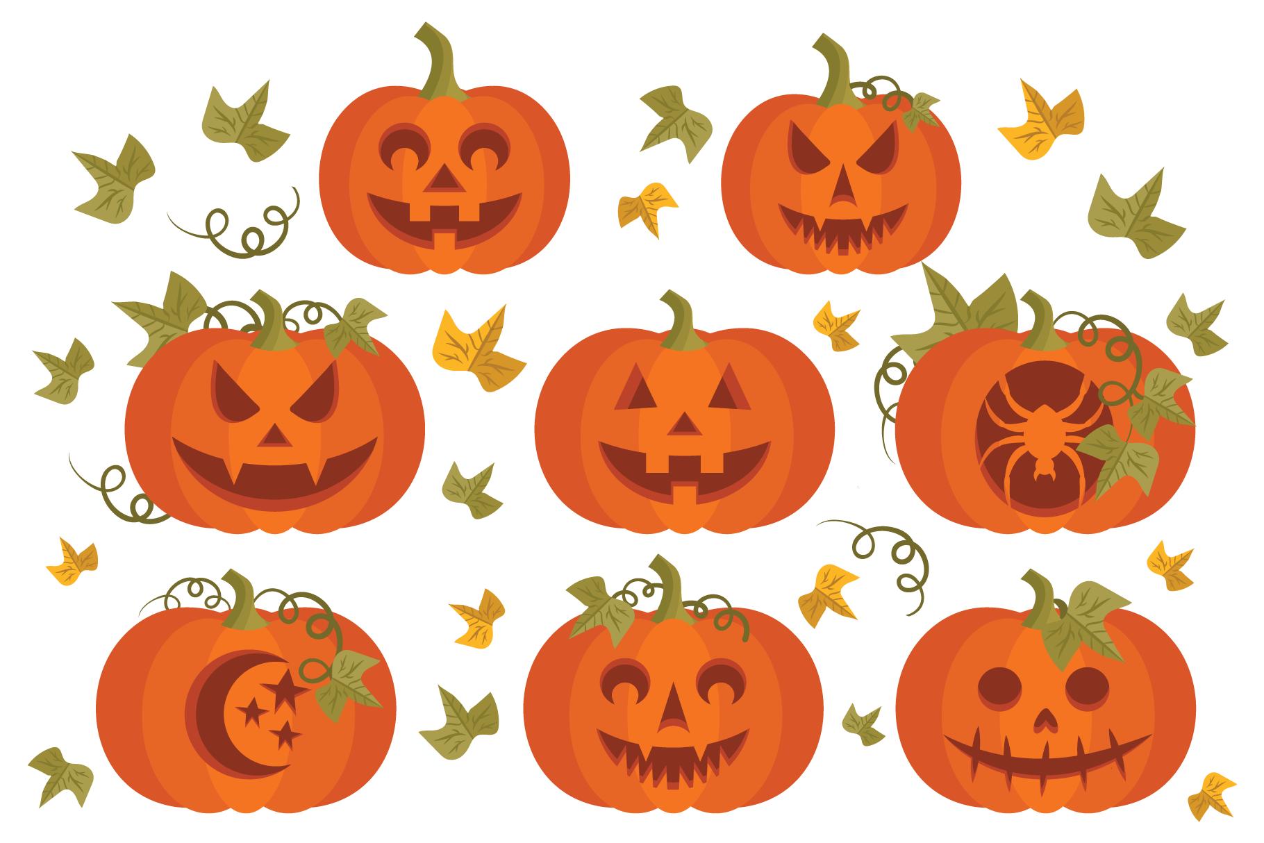 Fall Pumpkins Clip Art Set example image 4