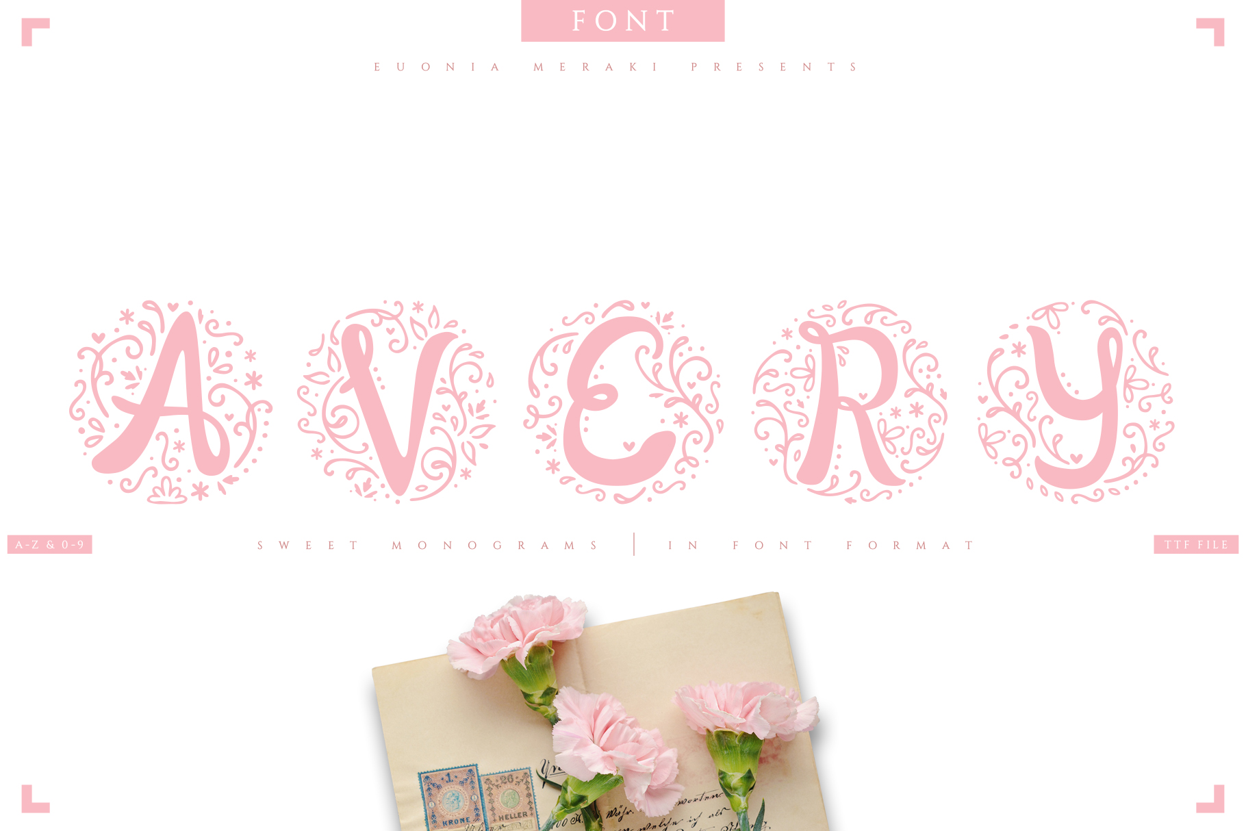 AVERY - sweet monograms font example image 1