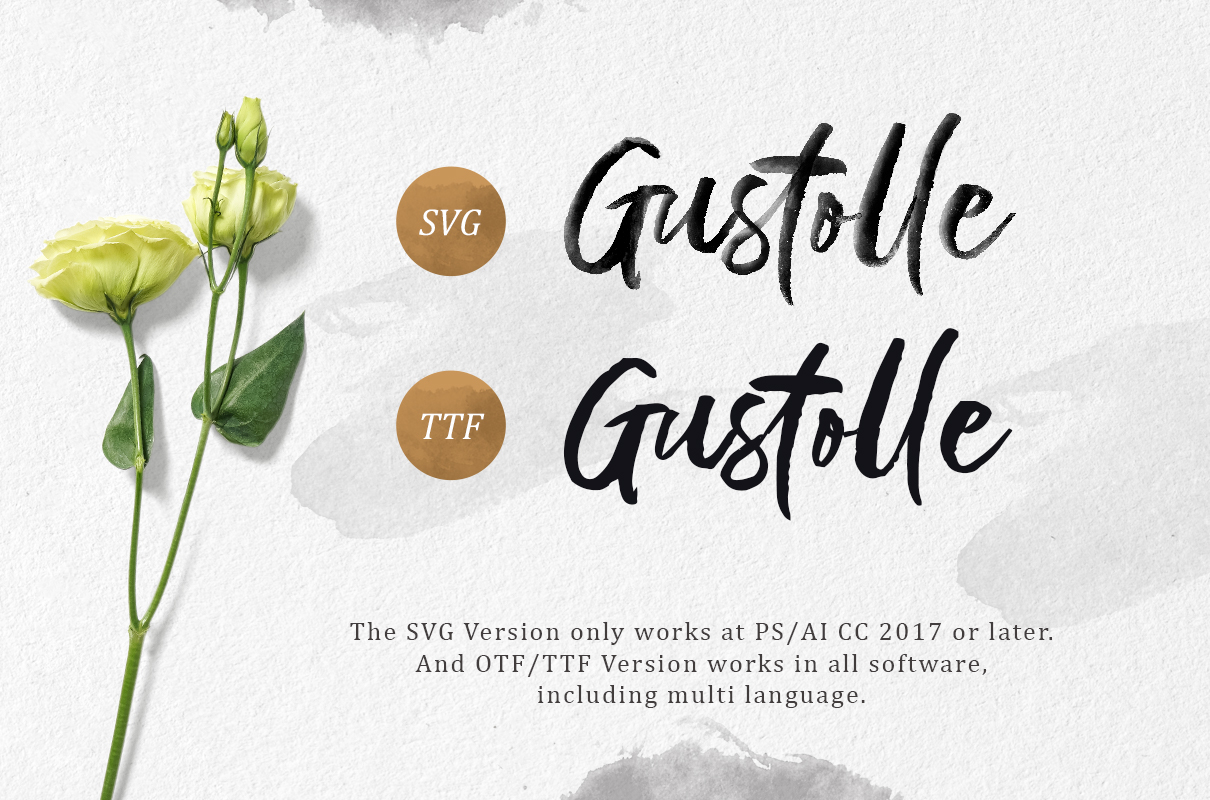 Gustolle SVG Font example image 7