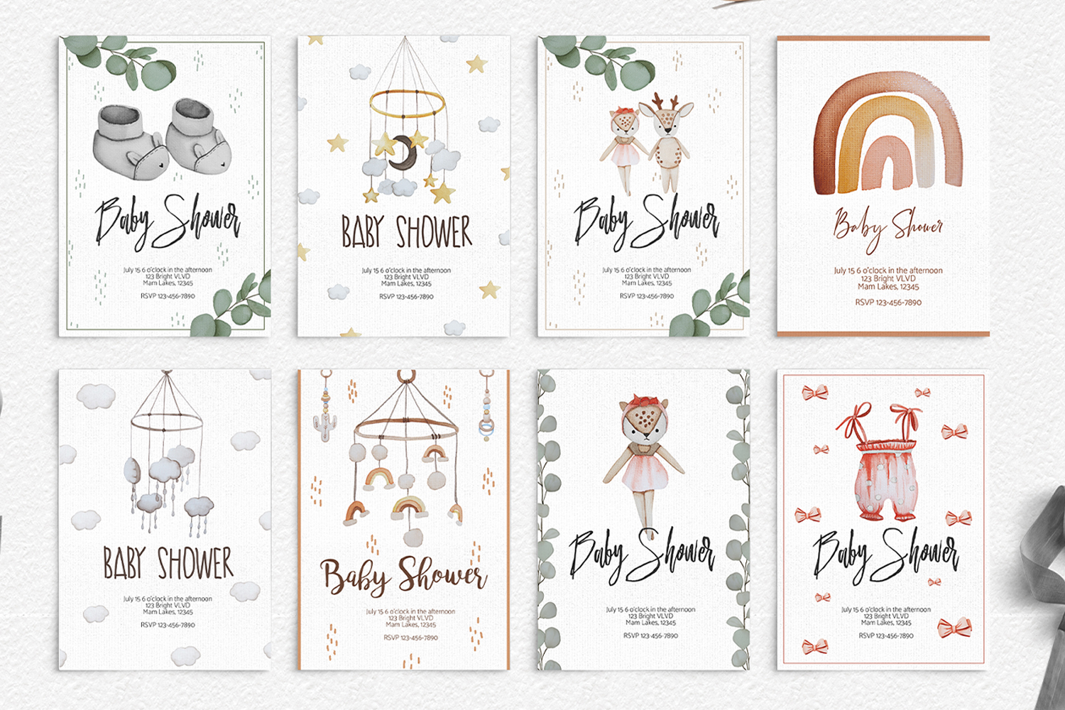 Baby Boom watercolor collection example image 7