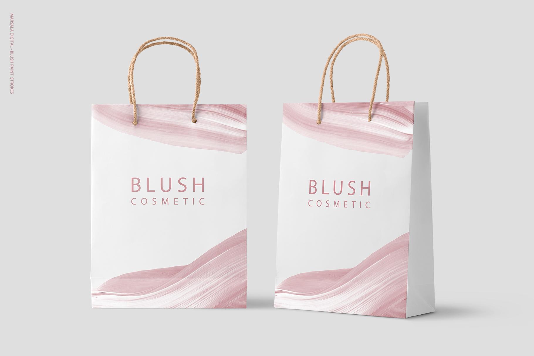 Blush Pink Paint Brush Strokes example image 7