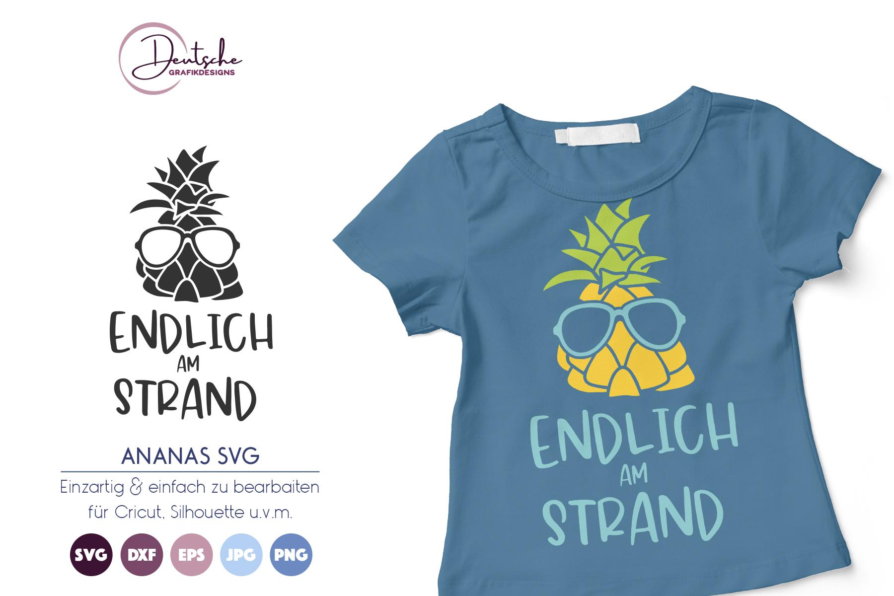Endlich am Strand | Ananas SVG example image 1