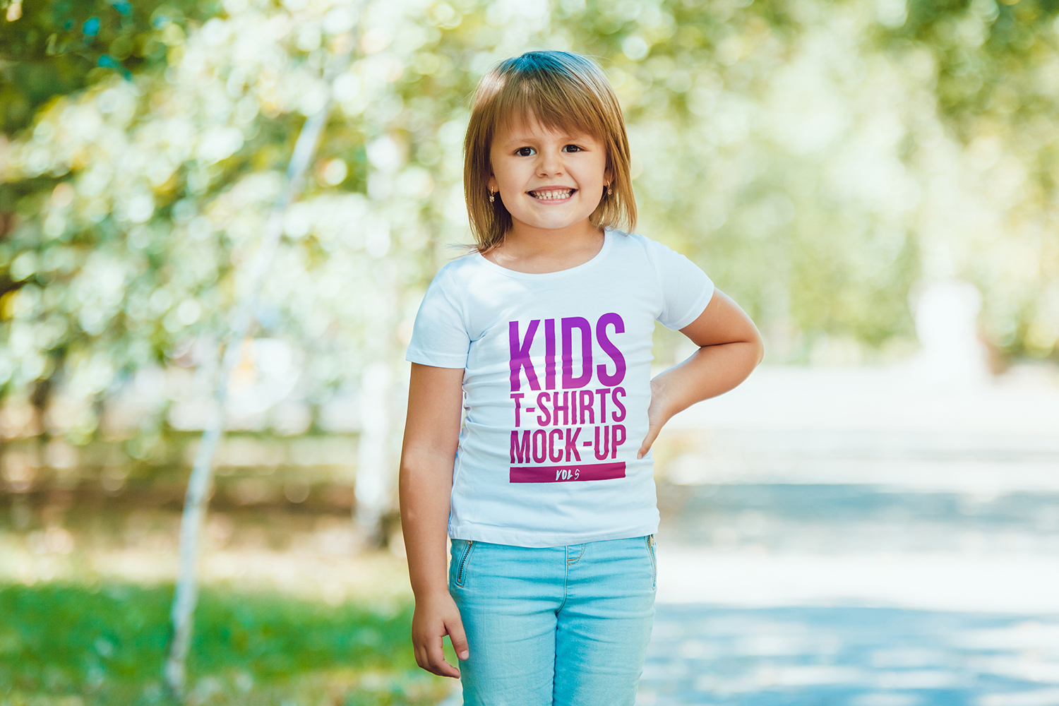 Kids T-Shirt Mock-Up Vol 5 example image 8