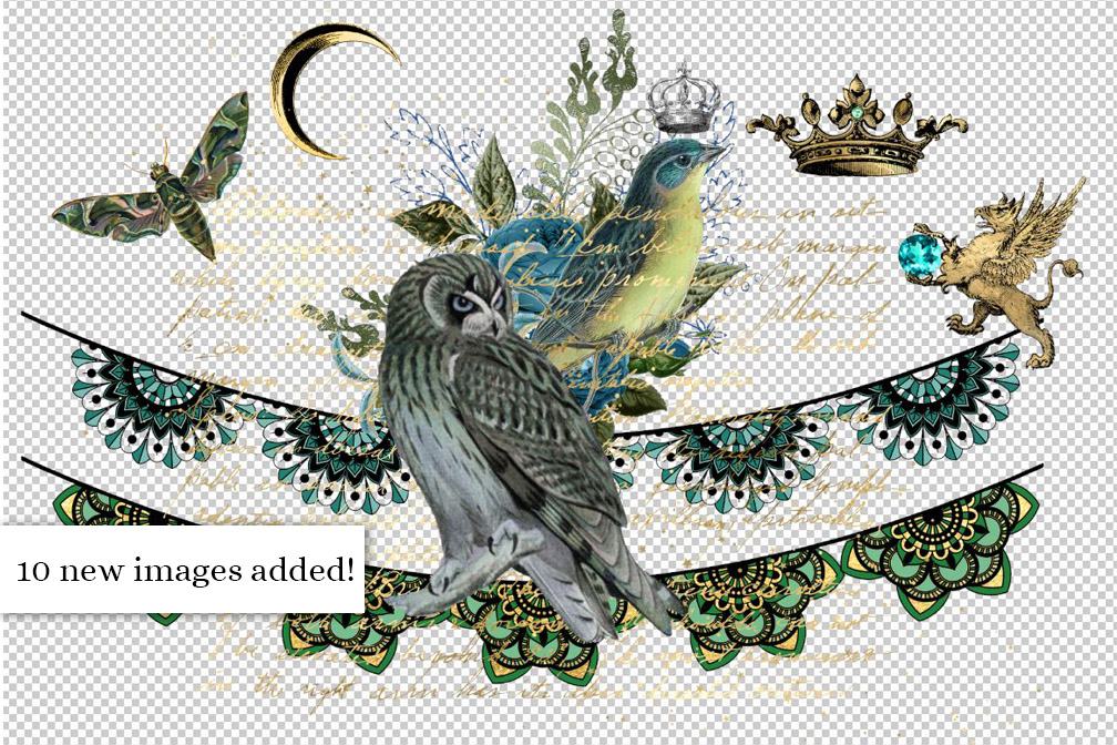 Midnight Forest Digital Scrapbooking Kit example image 2