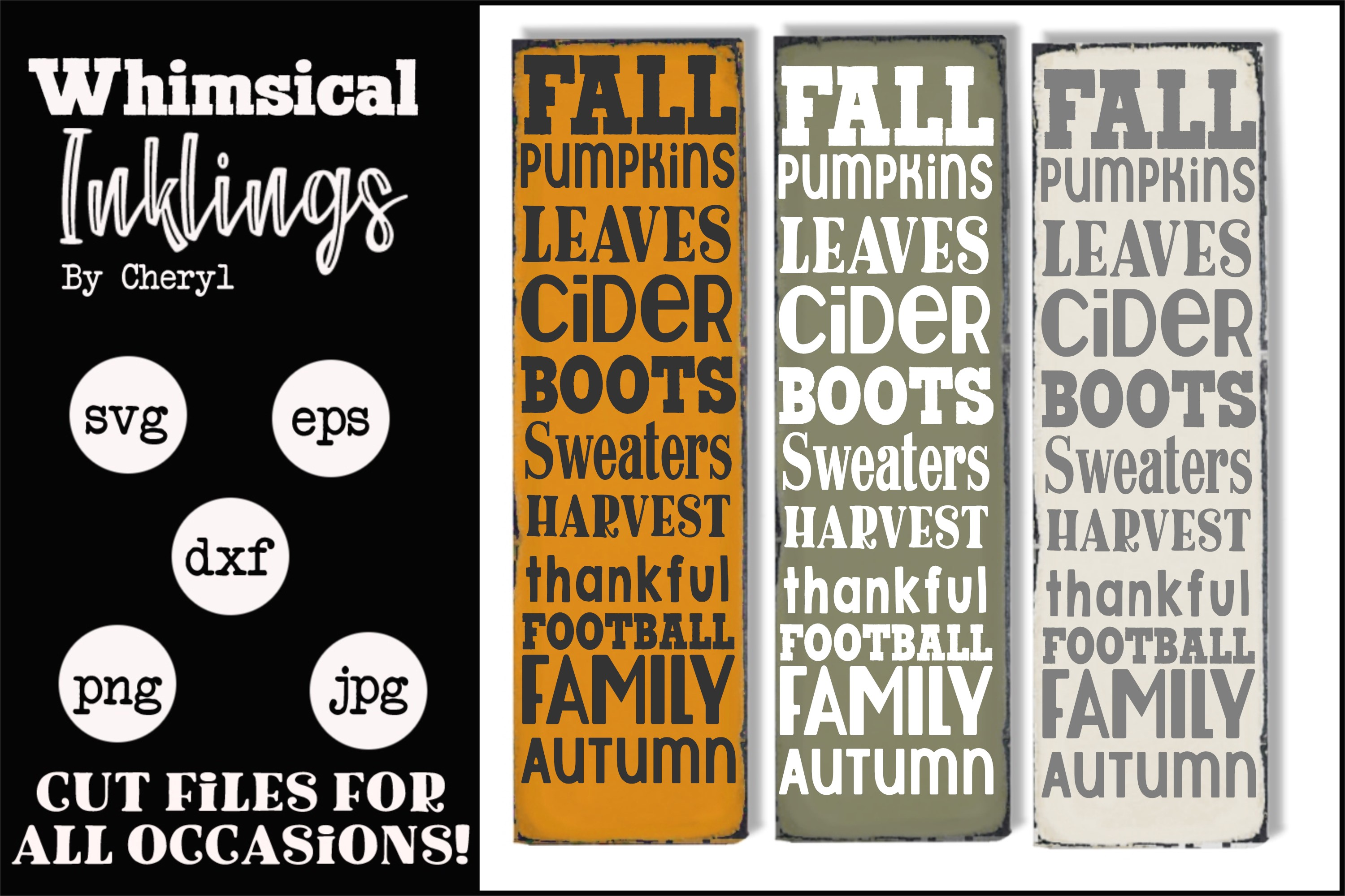 Vertical Fall Collage SVG example image 1