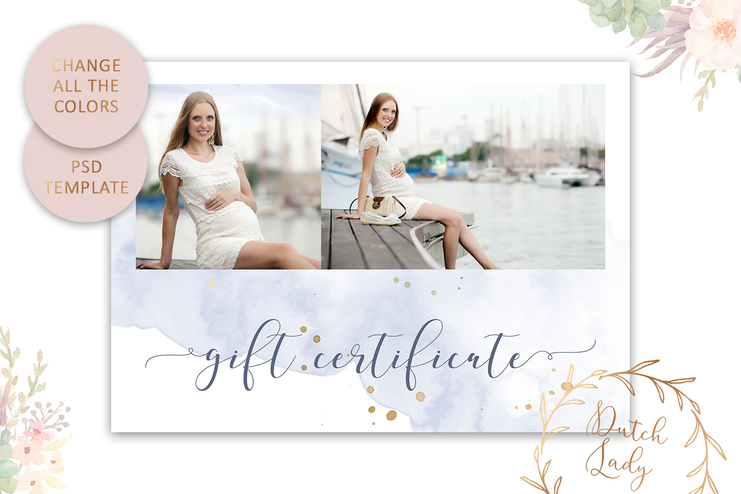 Photo Gift Card Template for Adobe Photoshop - #43 example image 4