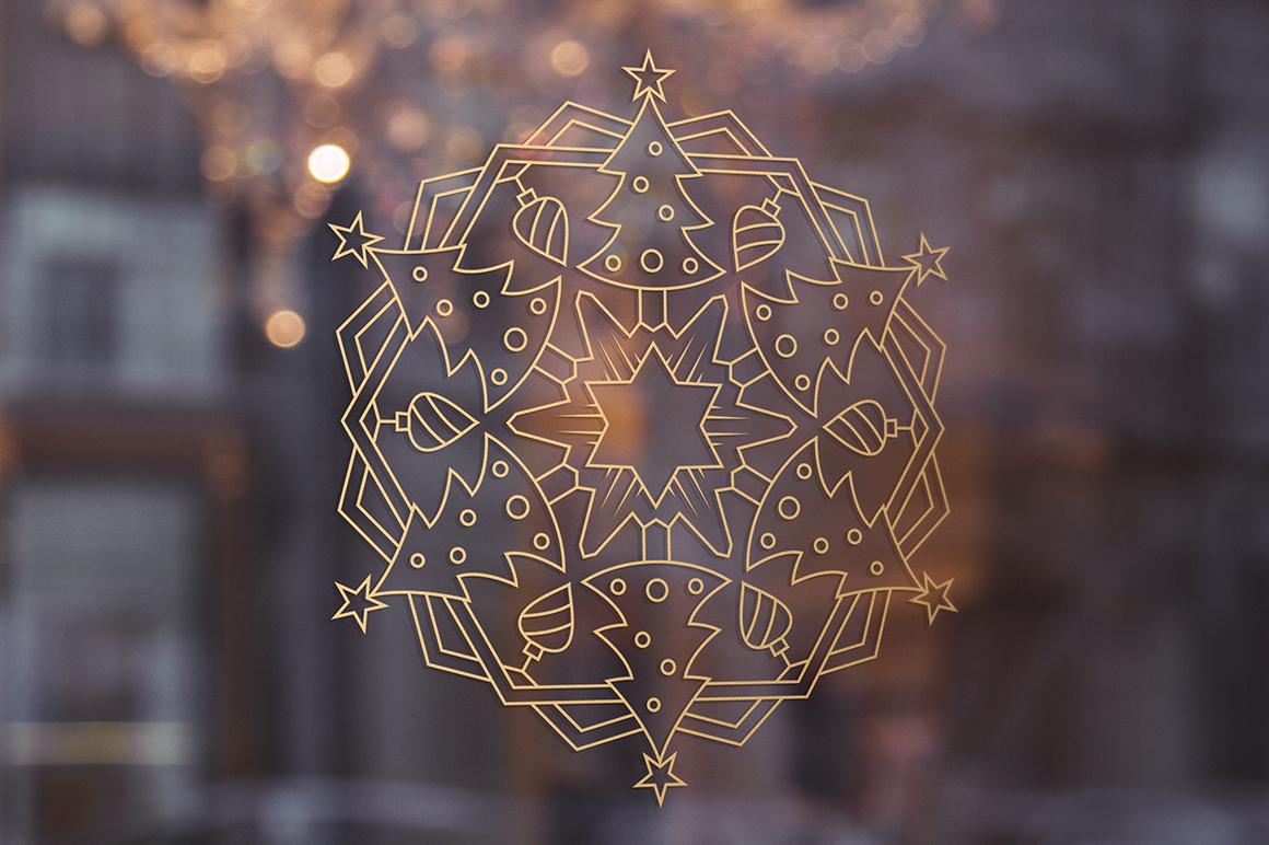 100 Christmas Mandala Ornaments example image 21