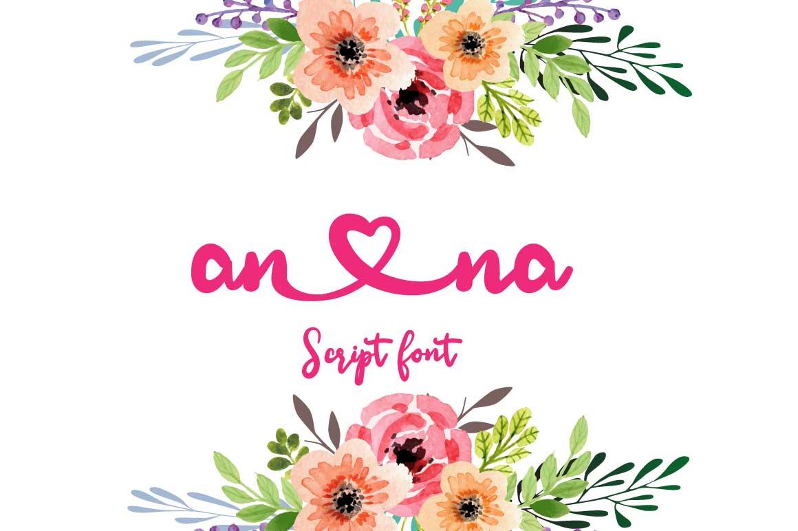 Ana Bryan| Cute heart Script Font example image 3