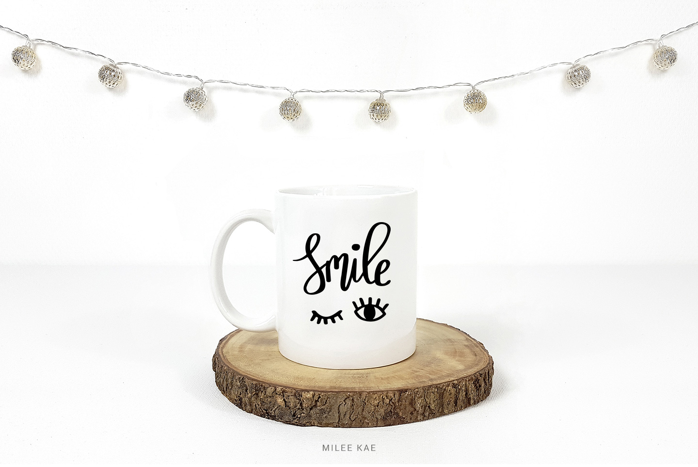 Smile, Cutting file, SVG, PNG, EPS, DXF example image 3
