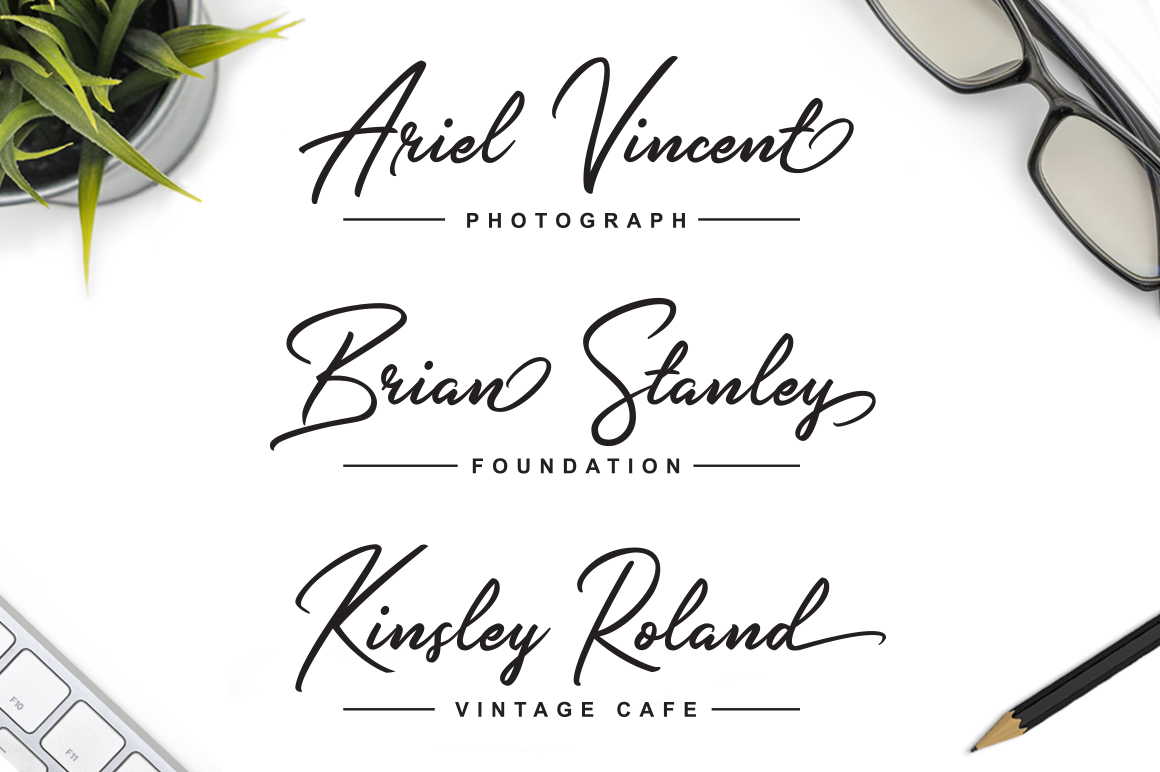 Slender Signature Font example image 2