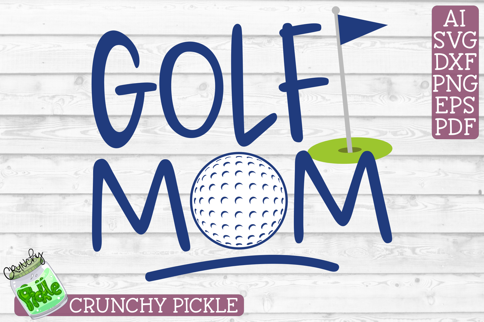 Golf Mom Sports SVG Cut File example image 2
