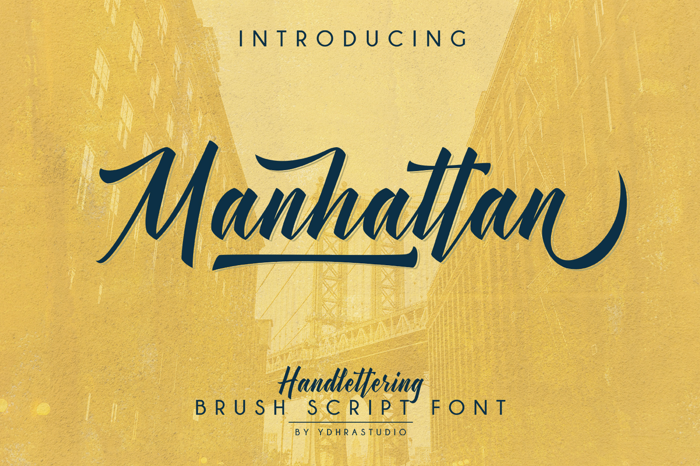 Manhattan Brush Script Font Swash example image 2
