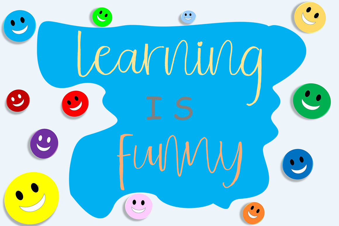 Children Funny Cute Handwritten Font With Extras example image 2