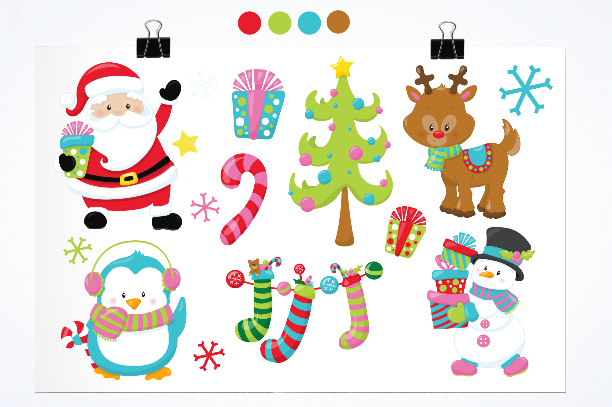 Christmas Friends graphics and illustrations example image 2