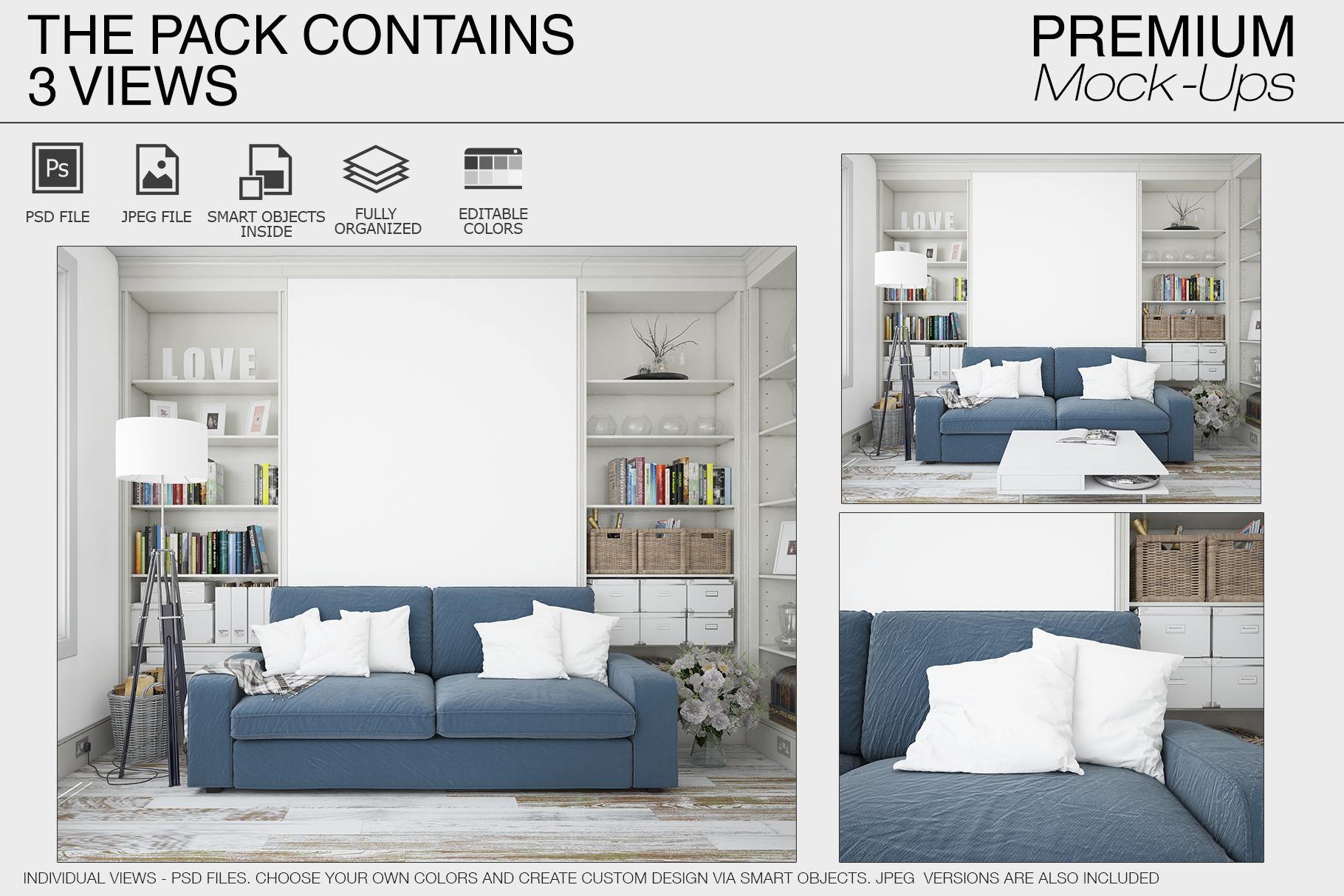 Pillows & Frames Mockup Set example image 24