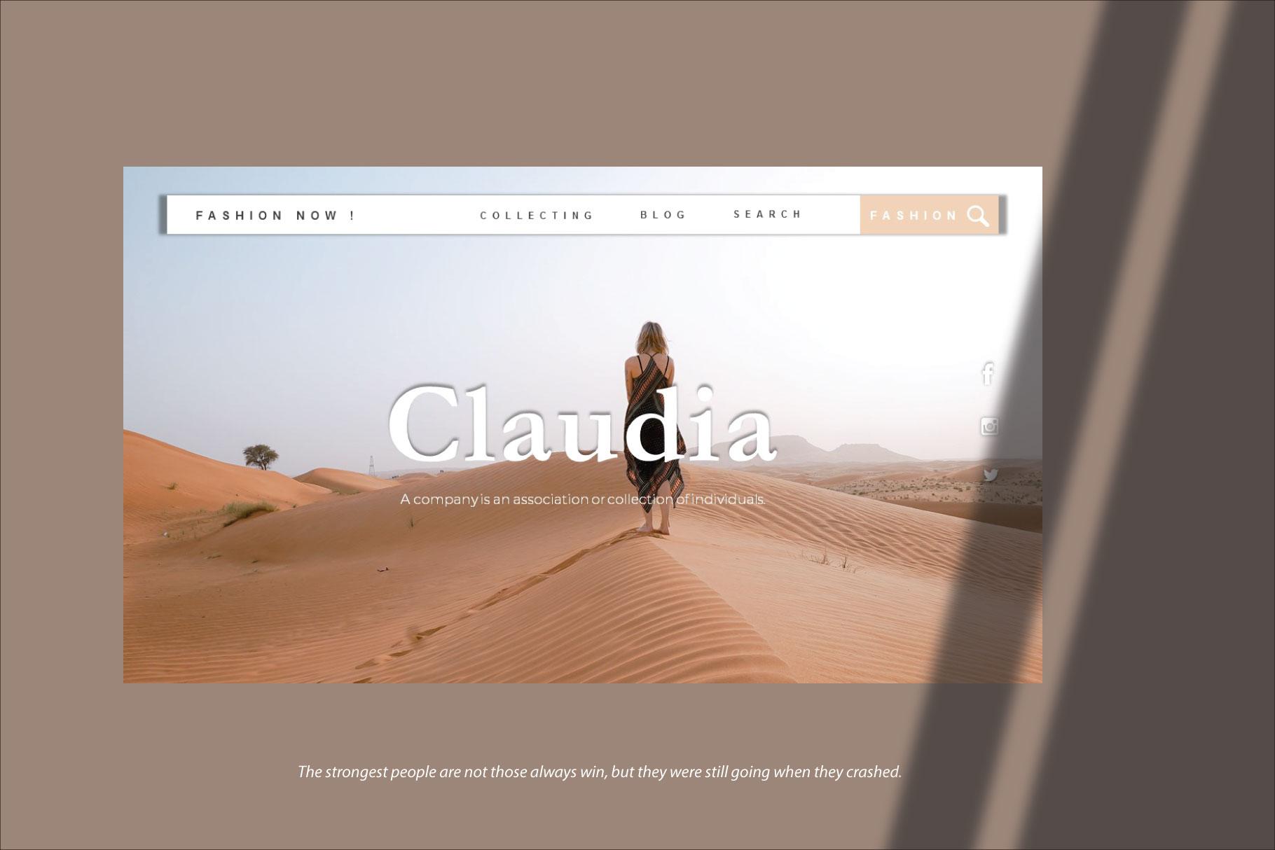 Claudia Keynote Template example image 3