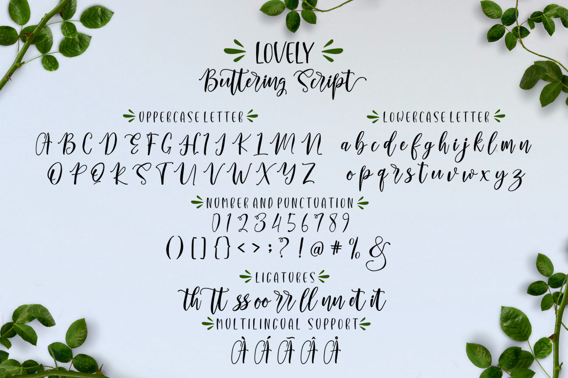 Lovely Buttering Font Duo & Extras example image 8