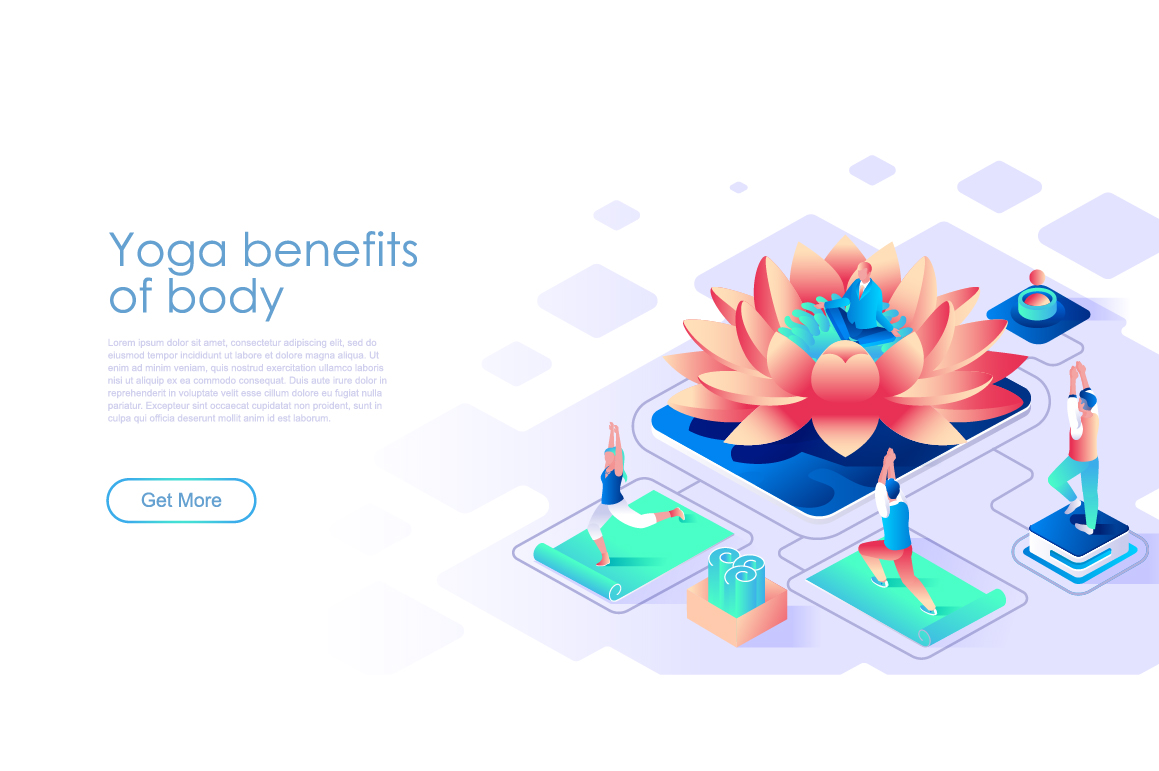 Bundle Isometric Landing Page Template Header example image 23