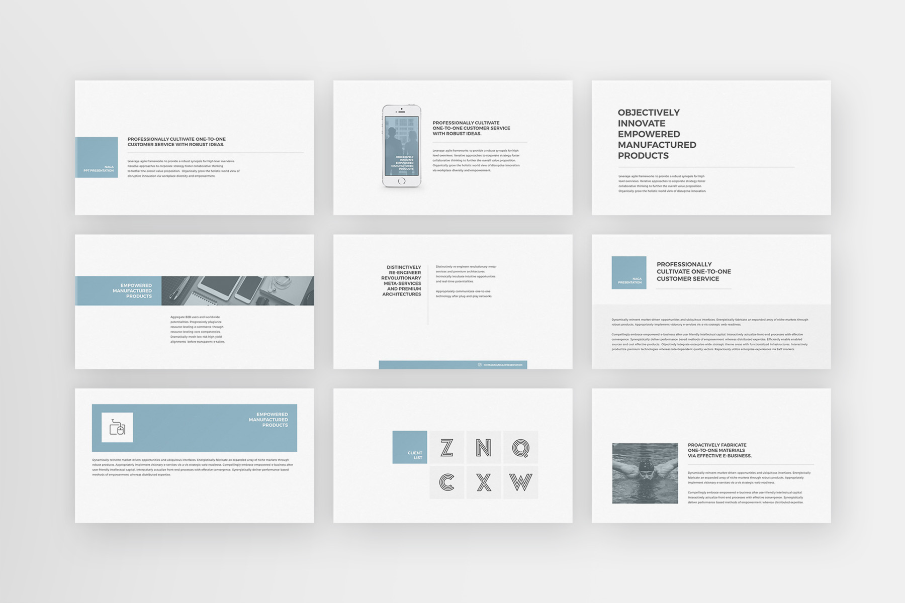 Naga - PowerPoint Template example image 5
