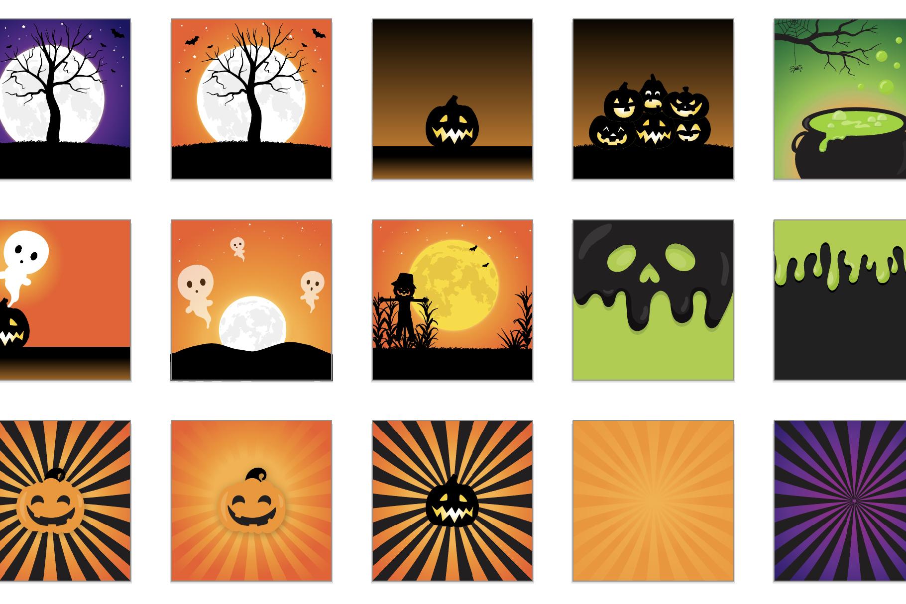 60 SCENES/BACKGROUNDS - Halloween Unicorn Bundle - 98OFF example image 5