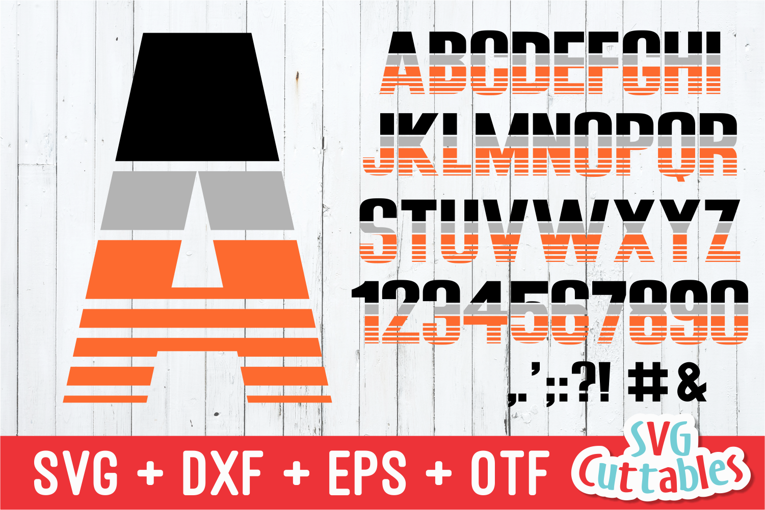 JP Athletic Stripes Sporty Font and SVG Alphabet example image 1