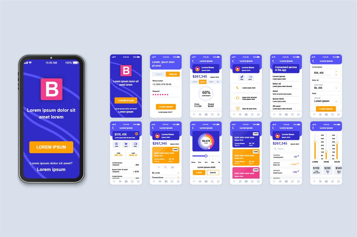 Bundle Mobile App UI Kit Screens example image 15