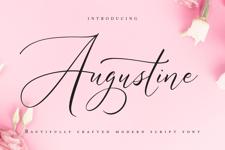 Augustine | Modern Script Font example image 1