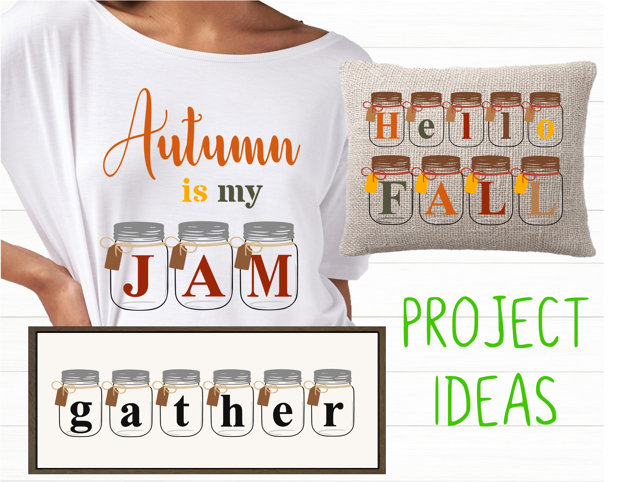 Farmhouse SVG Alphabet, Printables and Sublimation PNGs example image 3