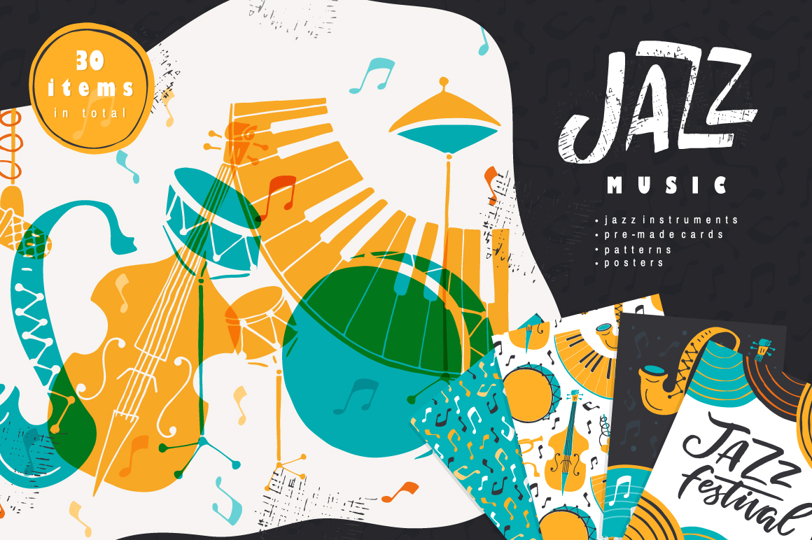 Jazz Music vector collection example image 1