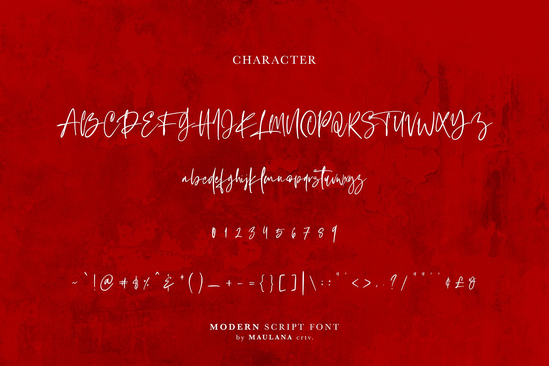 Hovercut Brush Script Font example image 10