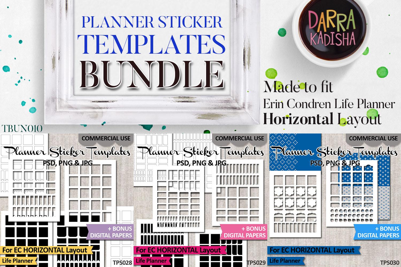 Sticker Templates Bundle Vol. 10 - Erin Condren Horizontal example image 2