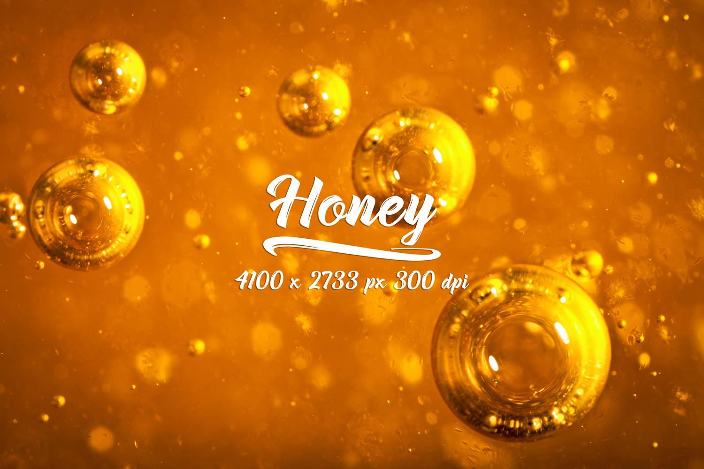 Honey bundle and macro photography texture of honey. example image 5