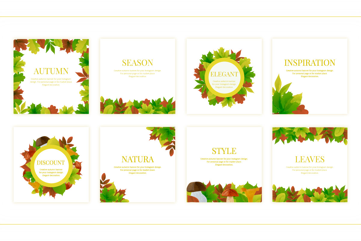 Autumn watercolor style vector collection. example image 2