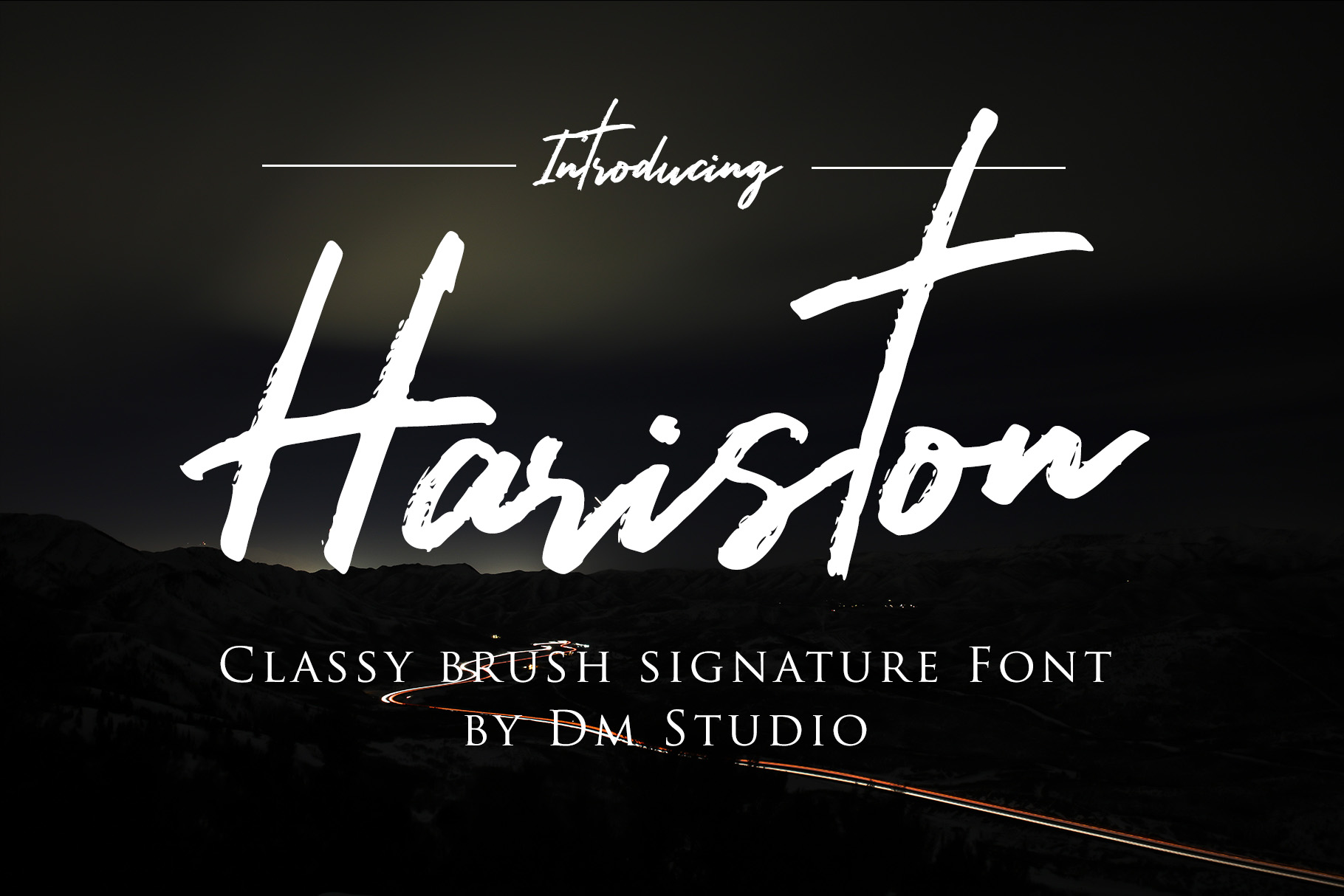 Hariston - Classy Signature Font example image 1