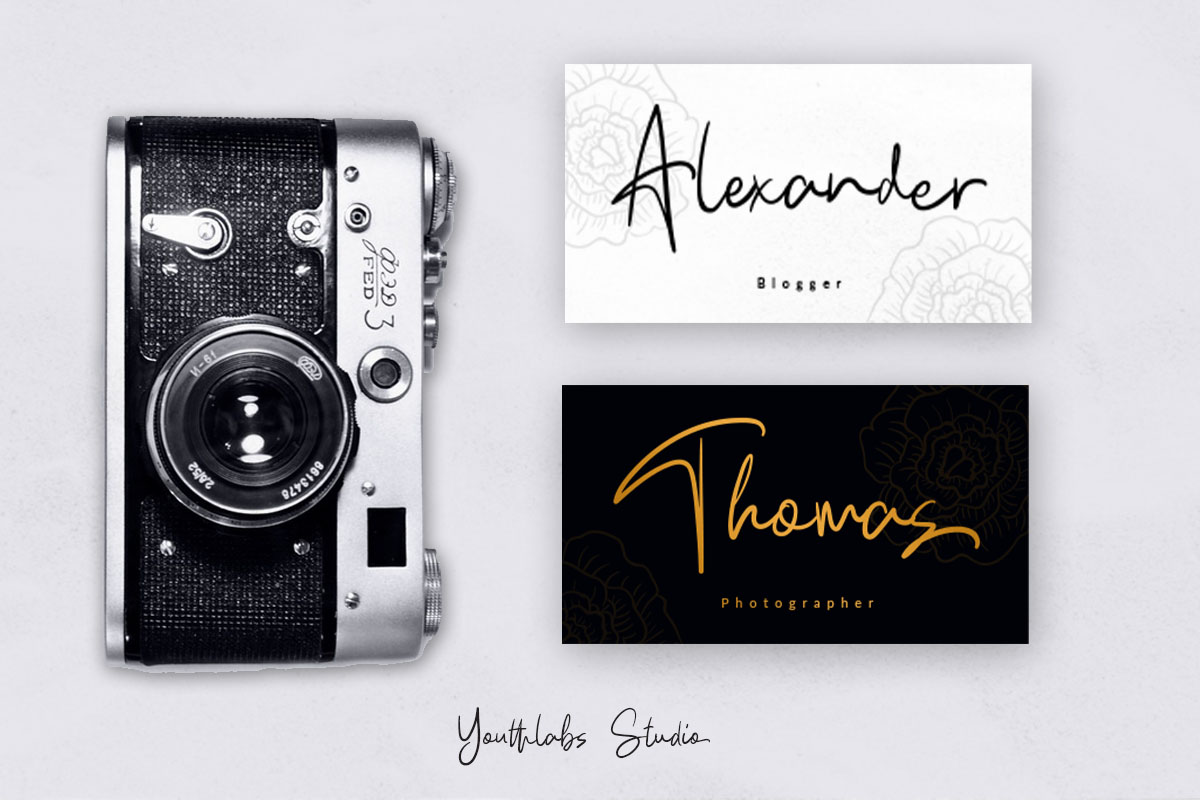 Kathlyn Signature Font example image 2