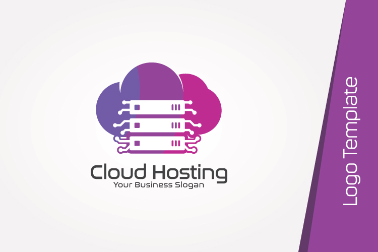 Cloud Hosting Logo Template example image 4