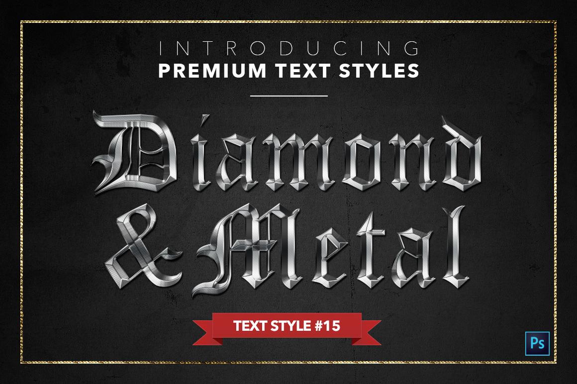 Diamond & Metal #1 - 15 Text Styles example image 16