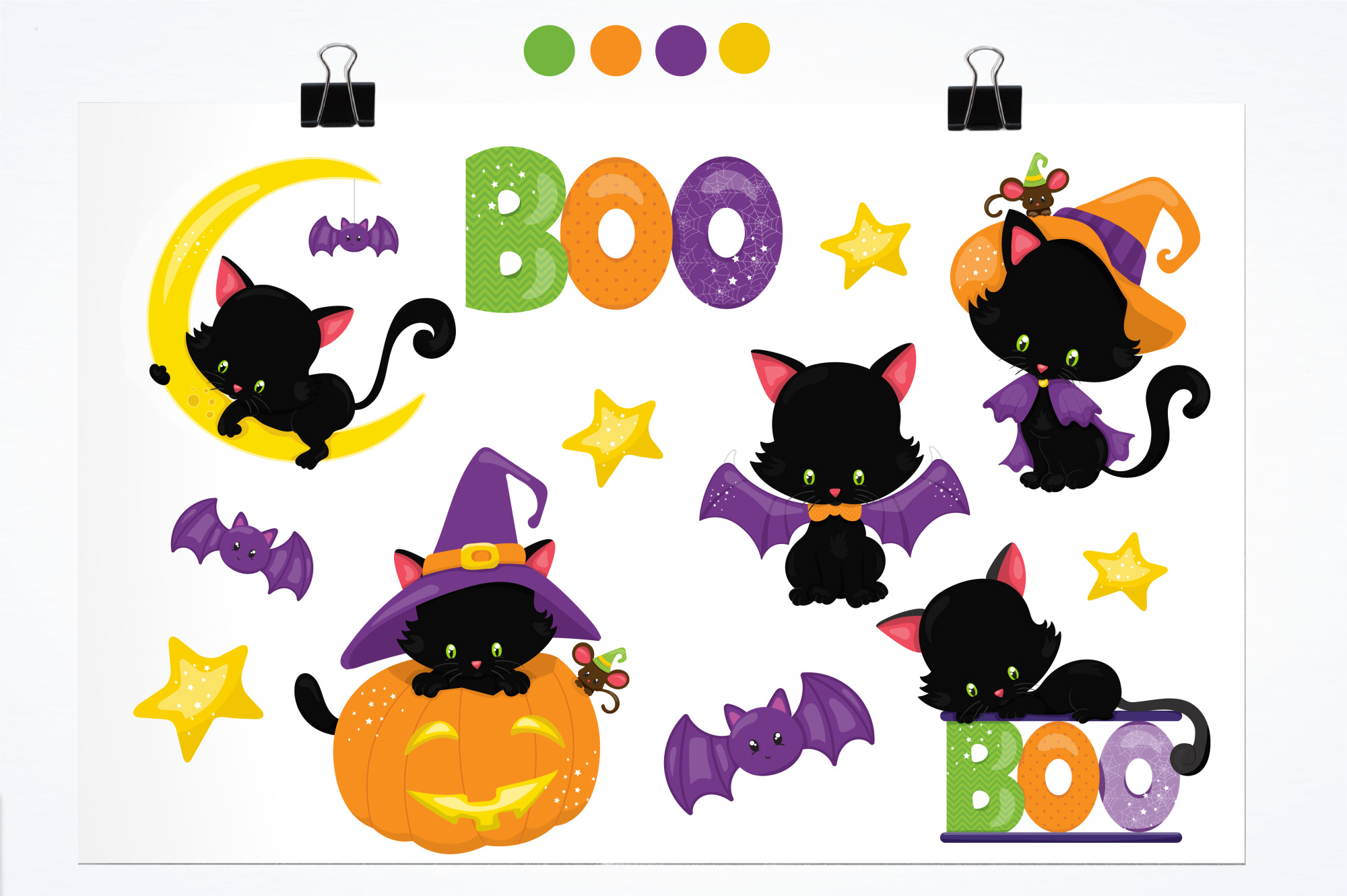 Halloween Kittens graphics and illustrations example image 2
