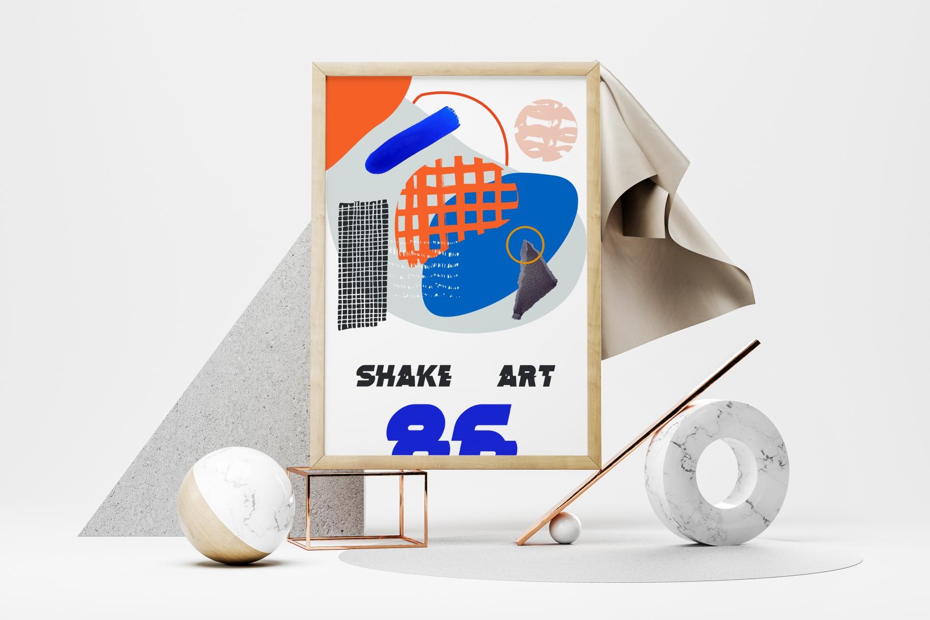 Shake this art! Collage pattern set. example image 8