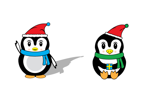 Penguin svg, Christmas svg files, SVG, DXF, EPS, cutting files for use with Silhouette Cameo and Cricut Explore. Winter svg files example image 1