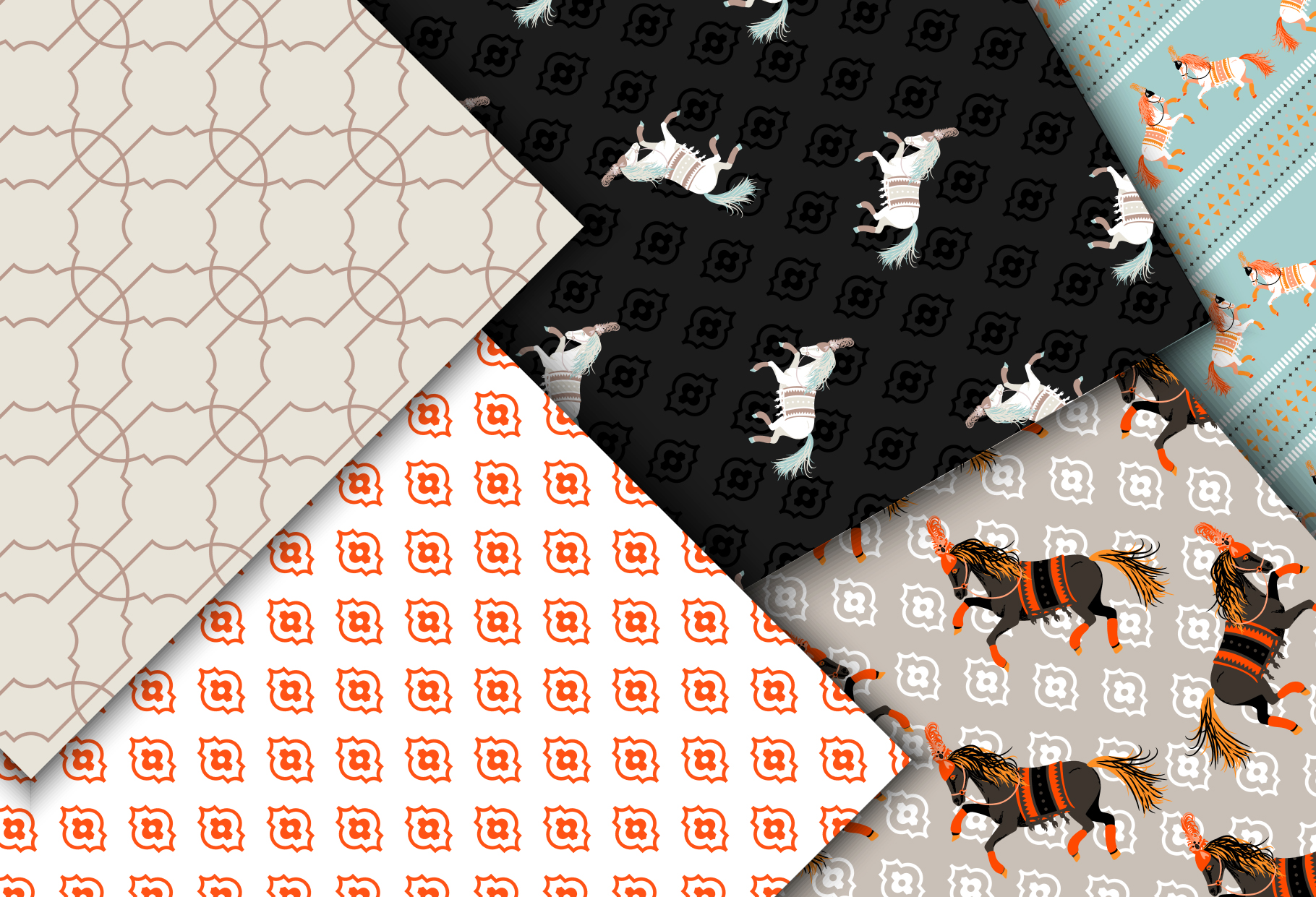 Horse Show - Seamless Patterns example image 5